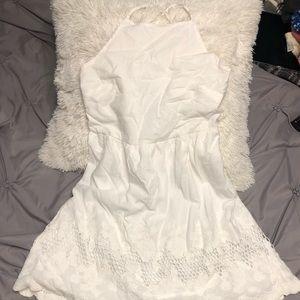 forever 21 little white halter top dress
